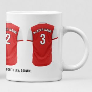 Arsenal Personalised Player and Text Mug