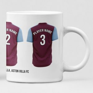 Aston Villa Personalised Player and Text Mug
