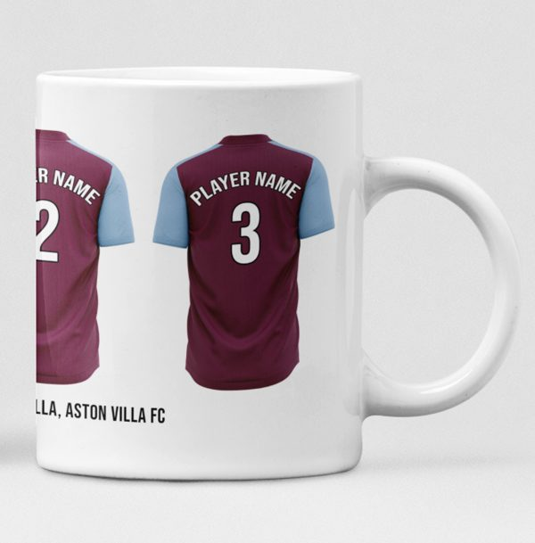 Aston Villa Personalised Player and Text Mug