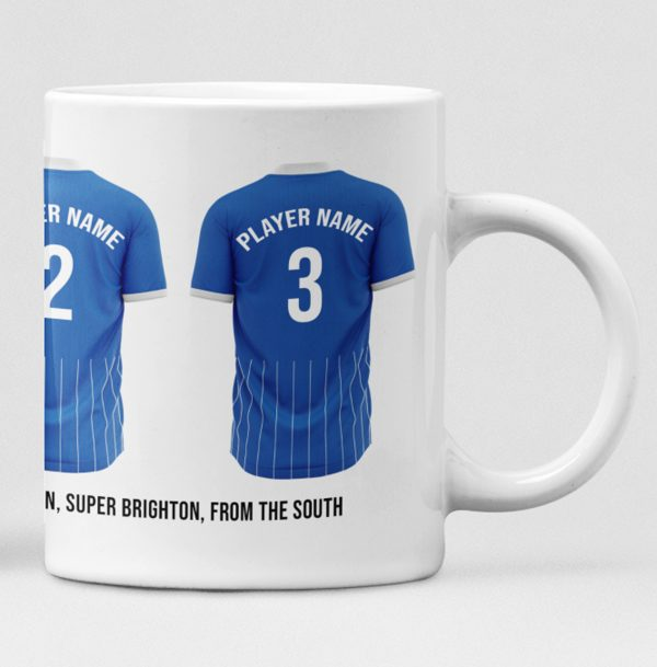 Brighton & Hove Albion Personalised Player and Text Mug