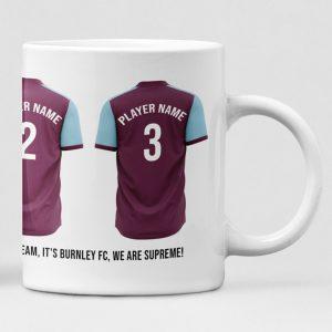 Burnley Personalised Player and Text Mug