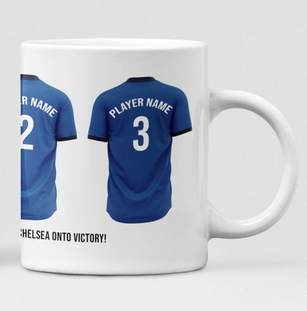 Chelsea Personalised Player and Text Mug