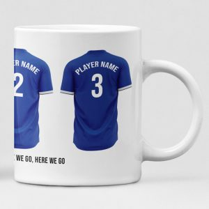 Everton Personalised Player and Text Mug