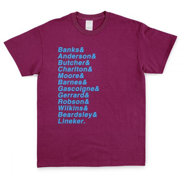 Claret & Blue Favourite XI T Shirt