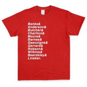 Red & White Personalised Favourite XI T Shirt