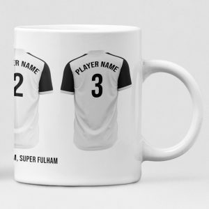 Fulham Personalised Player and Text Mug