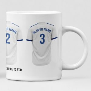 Leeds United Personalised Player and Text Mug