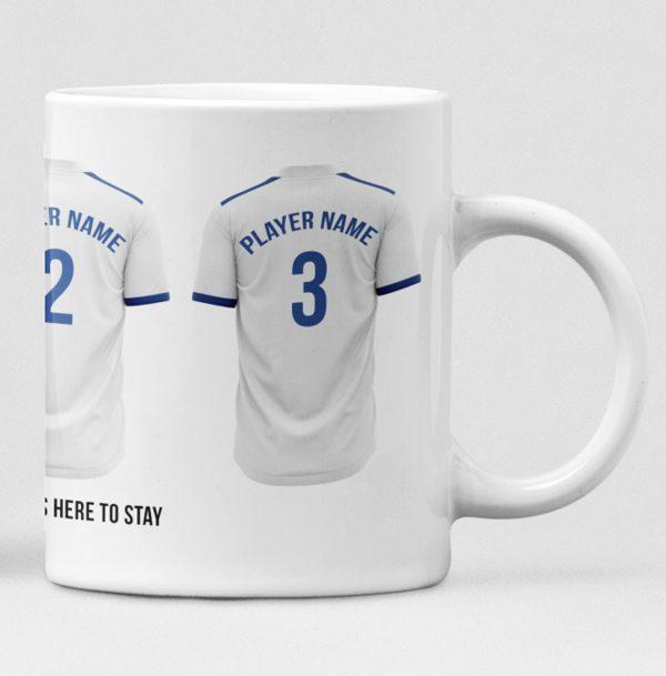 Leeds United Personalised Player and Text Mug
