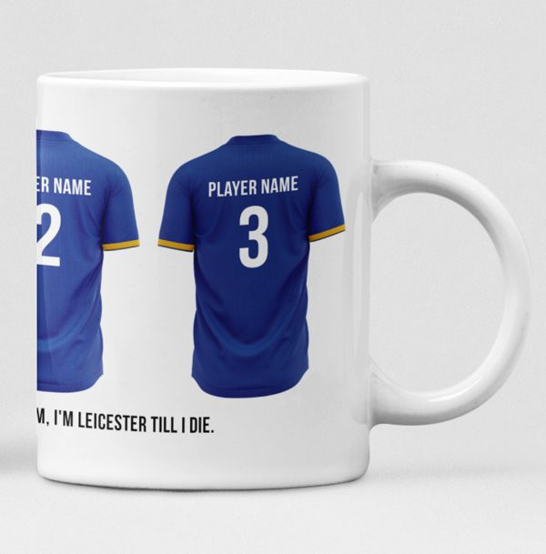 Leicester City Personalised Player and Text Mug