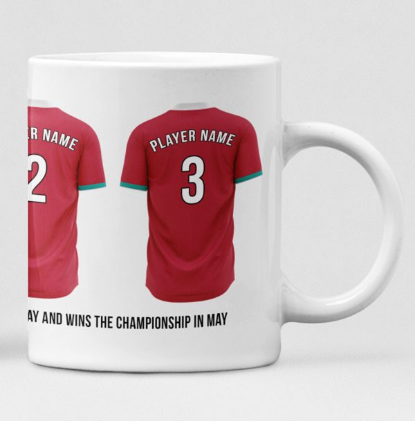 Liverpool Personalised Player and Text Mug