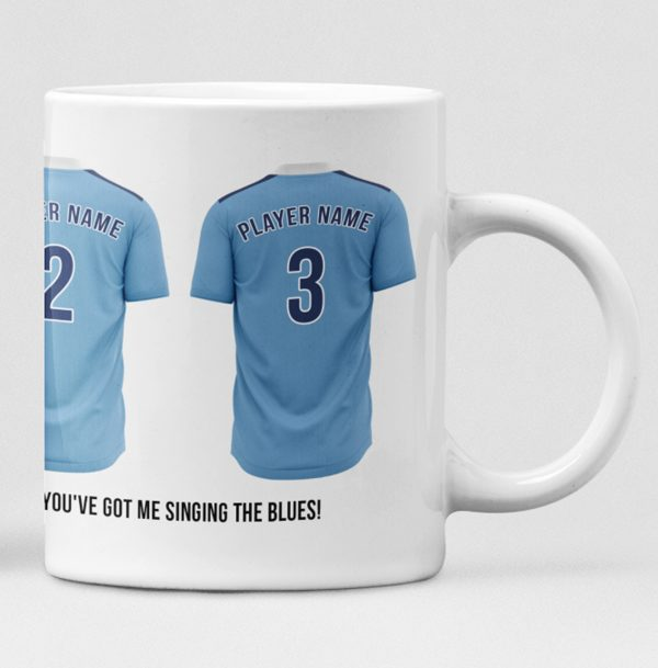 Manchester City Personalised Player and Text Mug