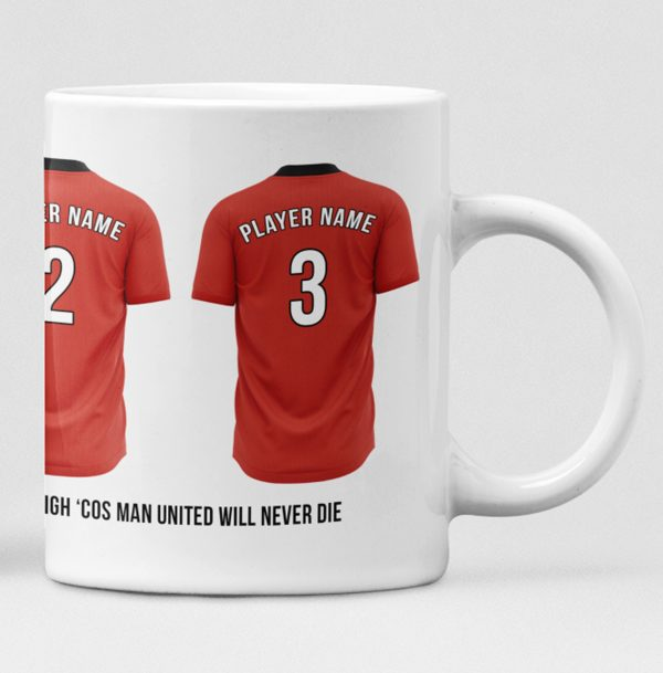 Manchester United Personalised Player and Text Mug
