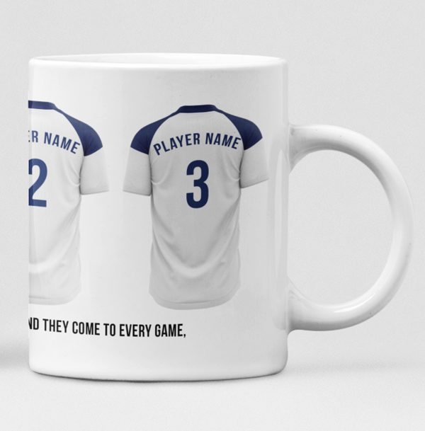 Tottenham Hotspur Personalised Player and Text Mug
