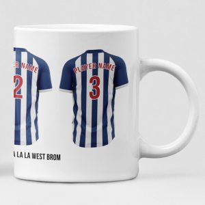 West Bromwich Albion Personalised Player and Text Mug