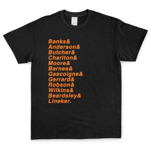 Black & Orange Personalised Favourite XI T Shirt