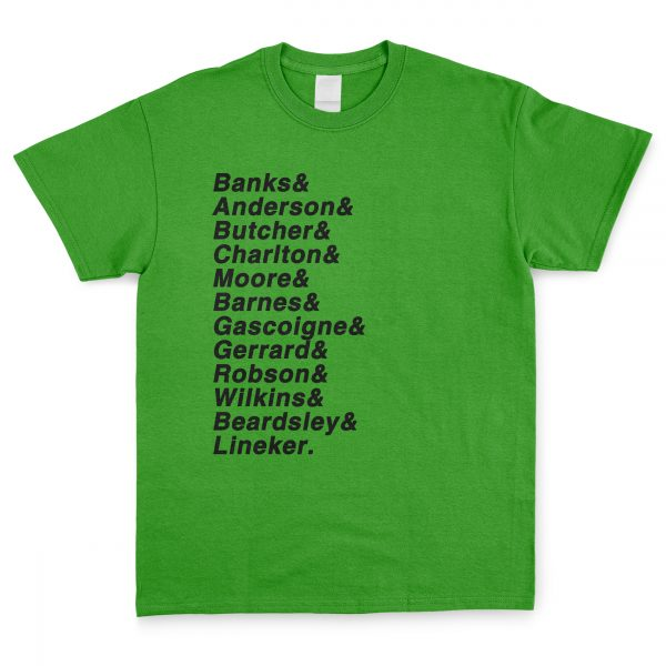 Green and Black Personalised Favourite XI T Shirt
