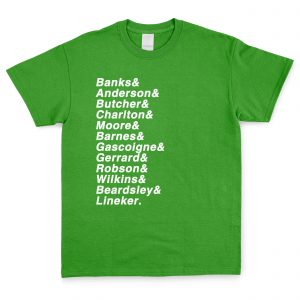 Green and White Personalised Favourite XI T Shirt