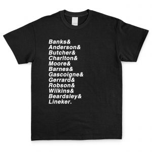 Black & White Personalised Favourite XI T Shirt