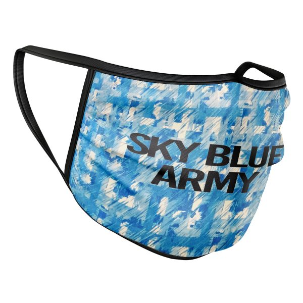 Retro Sky Blue Army Face Mask