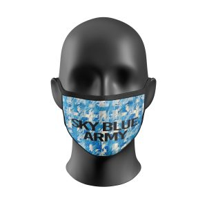 Retro Sky Blue Army Face Mask