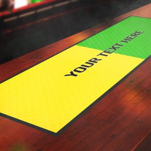 Personalised Retro United Away Bar Runner