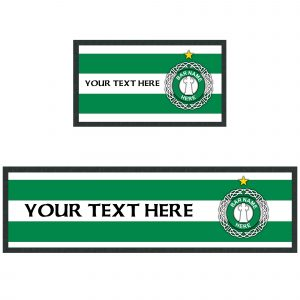 Personalised Retro Celtic Bar Runner