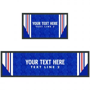 Personalised Retro Rangers Bar Runner
